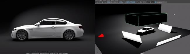 汽车工作室照明 - 瑞云渲染