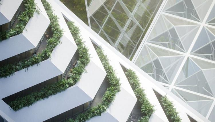 英国伦敦未来新地标Peninsula Place的视觉影像