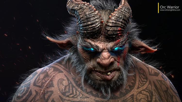使用MAYA和ZBrush创建一个恐怖的兽人