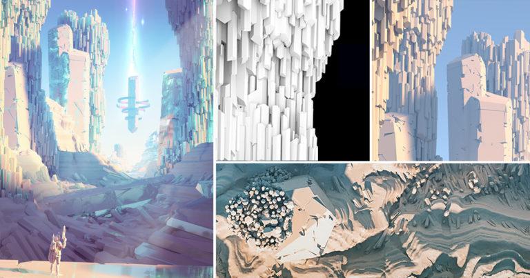 在houdini中制作科幻场景思维分享