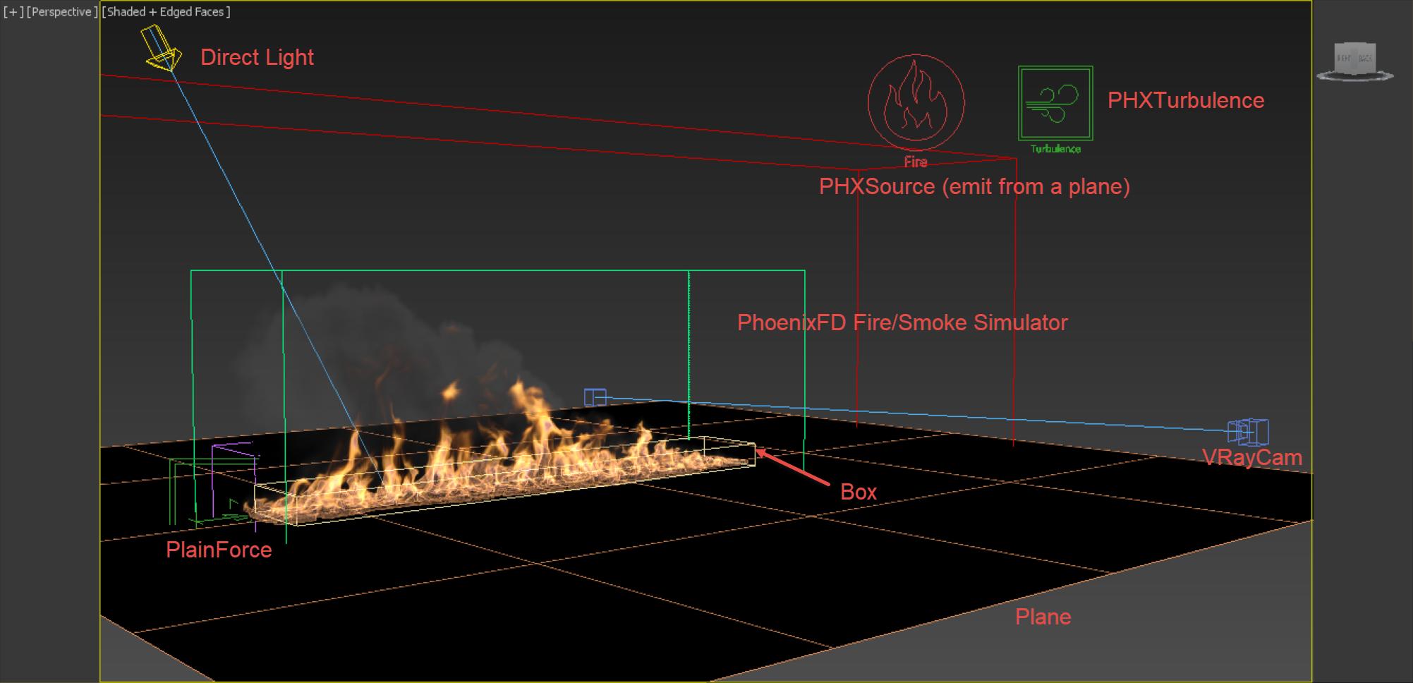 用Phoenix FD 制作蔓延的火焰