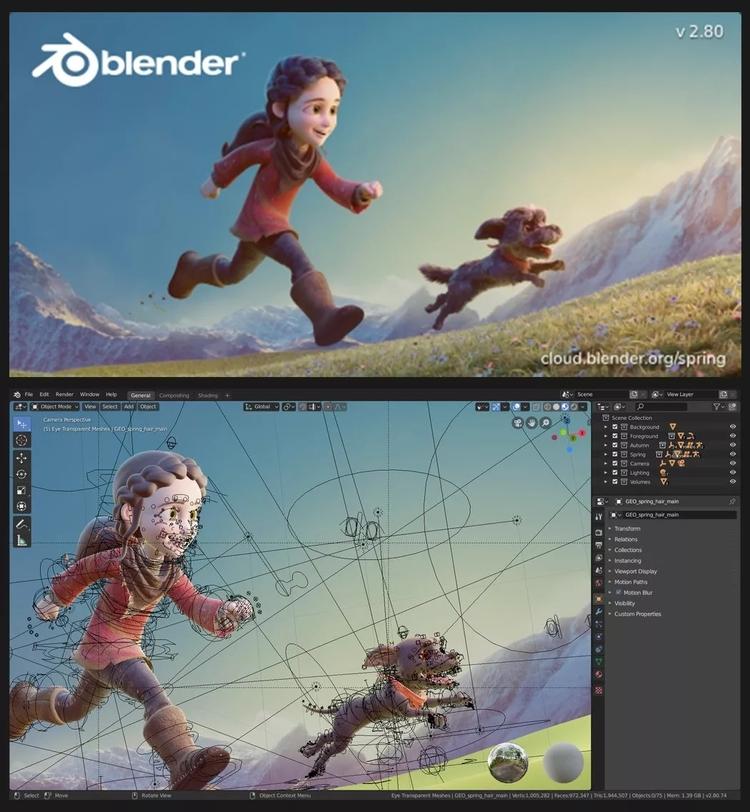 他来了!Blender 2.80正式发布,相当惊艳!